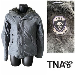⬇️TNA Summit Hooded Winter Parka Jacket Grey XS
